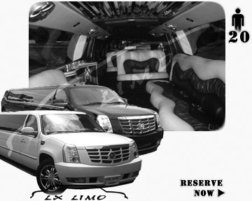 Cadillac Escalade 20 passenger SUV Limousine for rental in Portland, OR